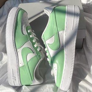 Nike Air Force 1 Spruce Aura Green Custom